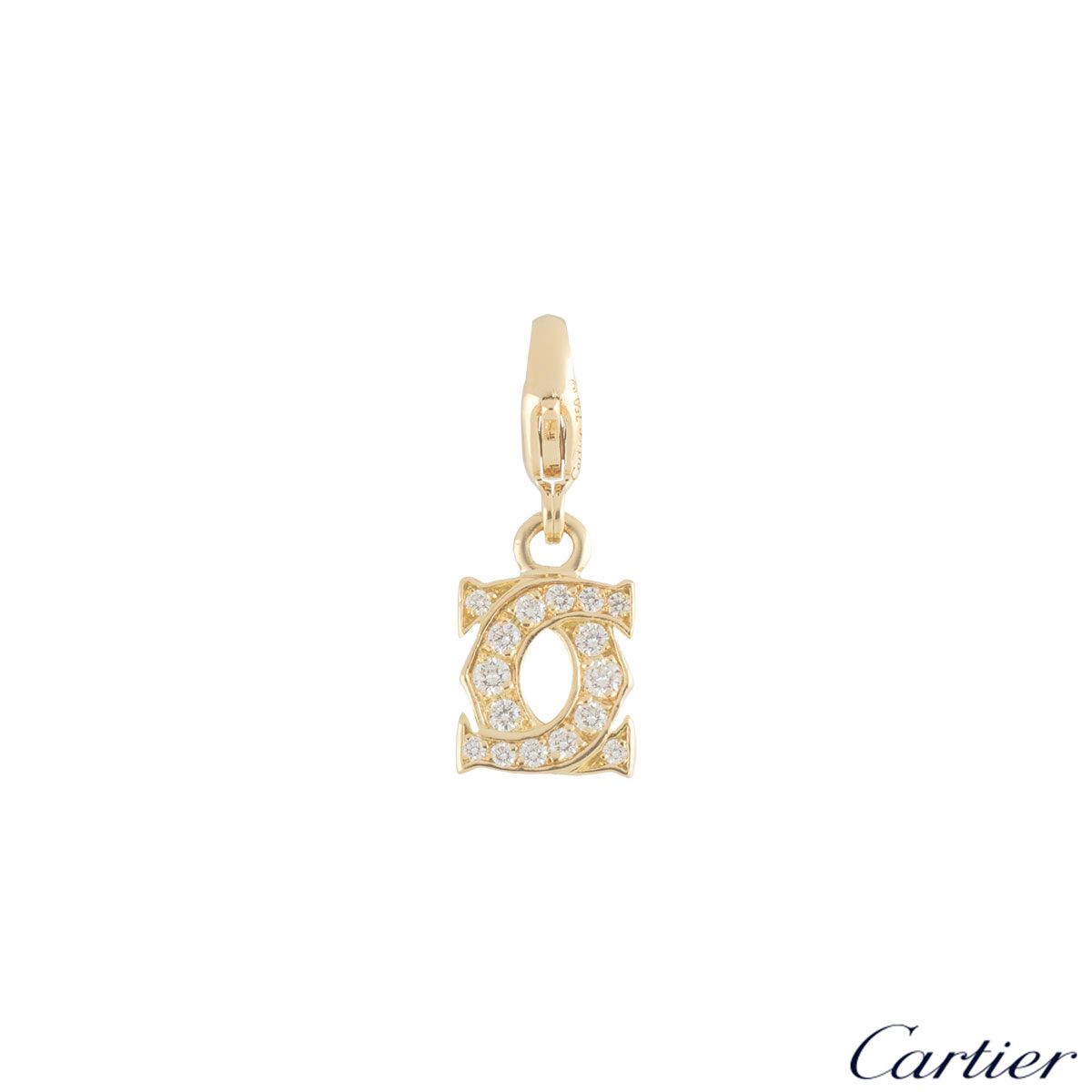 Cartier Yellow Gold Diamond C De Cartier Charm 0.21ct G+/VS+